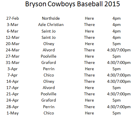 Baseball Schedule Template Baseball Schedule