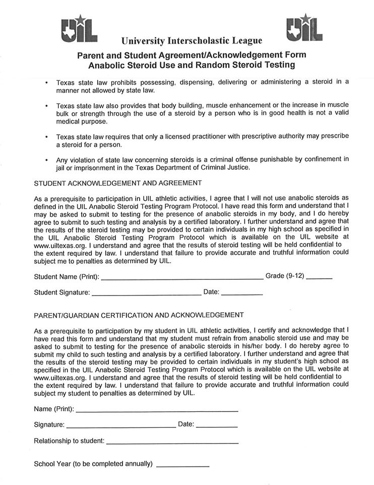 Bryson Isd - Athletic Forms